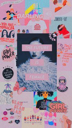 Feminist Lockscreen Wallpaper Aesthetic The Future Is Female Girl Power Fight Li. Wallpaper Collage, Power Wallpaper, Girl Wallpaper, Aesthetic Iphone Wallpaper, Wallpaper Backgrounds, Aesthetic Wallpapers, Aesthetic Collage, Pink Aesthetic, Images Murales