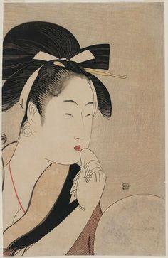口唇 喜多川 歌麿 Kitagawa Utamaro