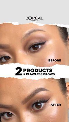 Flawless Makeup, Glam Makeup, Love Makeup, Simple Makeup, Skin Makeup, Makeup Looks, Eyebrow Makeup Tips, Eye Makeup Steps, Beauty Makeup Tips