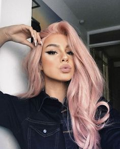 pretty pastel pink hair color as the inspiration to try pink hair - j. Light Pink Hair, Pastel Pink Hair, Purple Hair, Dark Hair, Green Hair, Baby Pink Hair, Long Pink Hair, Pretty Pastel, White Hair