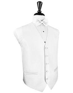 White Venetian Tuxedo Vest