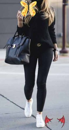 converse outfit 43 Women Street Styles You Need To Try #outfits #fashion #casualstyle #look<br> Street Style Women, Street Styles, Black Sports Shoes, Outfits With Converse, Fashion, Moda, Fashion Styles, Street Style, Fashion Illustrations