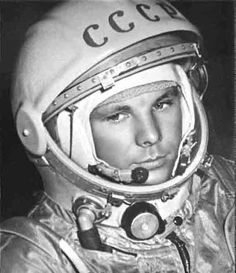 Yuri Gagarin - He was the first human to journey into outer space, when his Vostok spacecraft completed an orbit of the Earth on 12 April 1961.