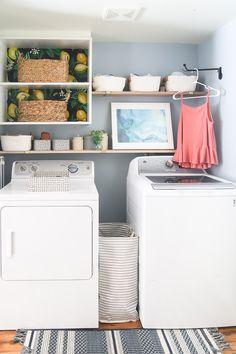 Small Laundry Room Ideas | Rental Laundry Room Makeover