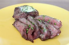 Grilled Ostrich Smothered in Garlic Herb Butter - ( I am going to try this)