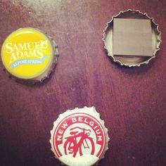 ...beer cap magnets