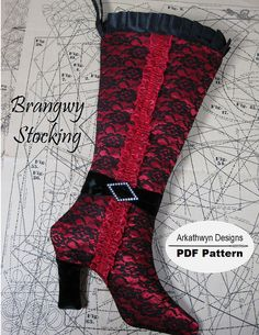 christmas stocking patterns | Boot Christmas Stocking Pattern - High Heel | Flickr - Photo Sharing!