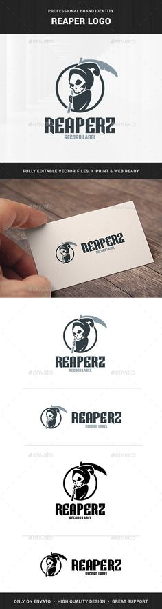 Reaper Logo Template — Transparent PNG #scythe #music • Available here → https://graphicriver.net/item/reaper-logo-template/18873183?ref=pxcr