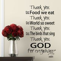 Scripture Wall decal Thank You God Prayer wall words quote vinyl stickers