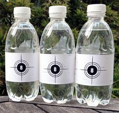 Printable Laser Tag Water Bottles Wrappers