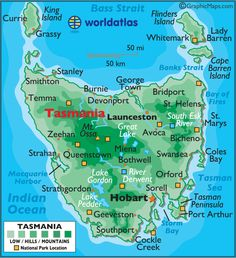 Maps tasmania