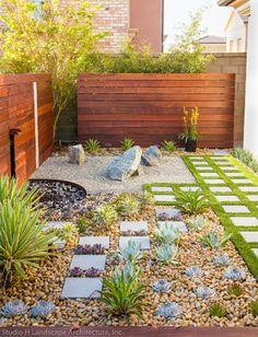 Modern Zen Garden Small Space Design - contemporary - Landscape - Orange County - Studio H Landscape Architecture