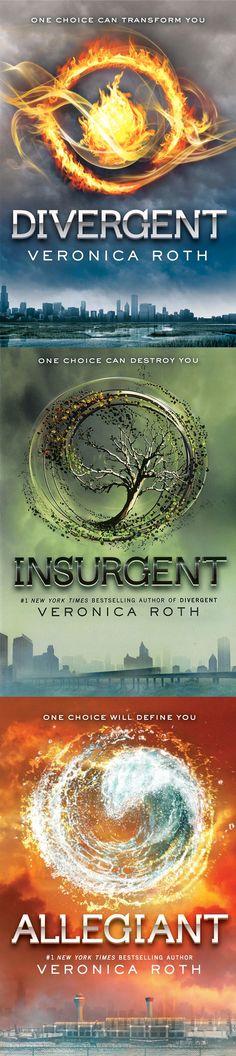 Veronica Roth's Divergent trilogy: Divergent / Insurgent / Allegiant (coming 10.22.13)