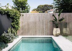 Yanko - Pool & Garden Design Tropical Pool Landscaping, Tropical Garden Design, Above Ground Pool Landscaping, Backyard Pool Designs, Small Backyard Pools, Small Pools, Swimming Pools Backyard, Swimming Pool Designs, Pool Fence