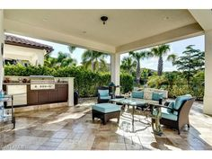 2241 Aberdeen, Naples, FL 34105 | Gorgeous lanai with built in grill and fridge.  Traditions at Grey Oaks