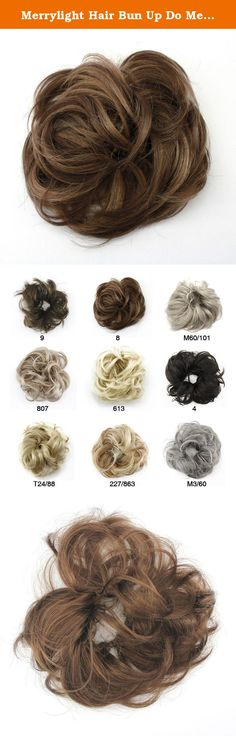 Merrylight Hair Bun Up Do Messy Bun Hairpiece Scrunchie Scrunchy Hair Pieces For Wedding (Chocolate Brown-8). BEAUTY STARTS FROM HAIR,BEAUTY STARTS FROM HERE If you are looking for different hair do or something to fix your bad hair on daily basis here is the solution for it. Dress up your beauty, make you lovely Enjoy your changeable hairstyle.Include ponytails,drawstring clip hairpiece in various texyures,styles and colors. Easy to operate tangle free,nice looking,cool feeling and…
