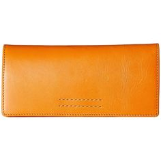Frye Harness Wallet (Orange Smooth Full Grain) (£130) ❤ liked on Polyvore featuring bags, wallets, frye wallet, orange bag, frye bags, stitch wallet and orange wallet