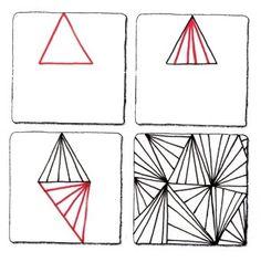 zentangle: triangle mess