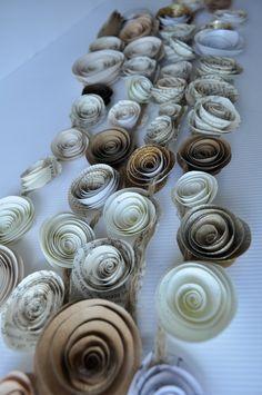 Wedding Garland Upcycled Paper Flower Garland