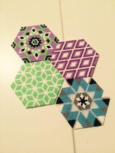 Coasters hama mini beads                                                                                                                                                                                 More