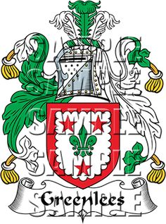 Greenlees Family Crest apparel, Greenlees Coat of Arms gifts
