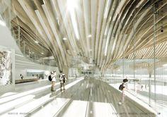 Arch2o Taichung City Cultural Center Compeion Entry Bat 8 Public Architecture Interior