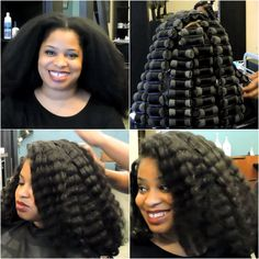 No Heat Natural Hairstyle | How To Create A Wave Rollerset On Natural Hair