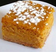Pumpkin Gooey Butter Cake - Famous Chef recipes - http://acidrefluxrecipes.com/pumpkin-gooey-butter-cake-famous-chef-recipes/