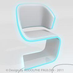 Lamed Chair design © Rodolphe Pauloin DESIGN - 3D - CHAIRS - LIGHT - LUXE