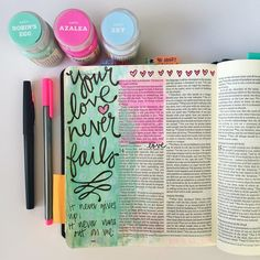Your Love Never Failed-1 Cor. 13 #BibleJournaling #IllustratedFaith
