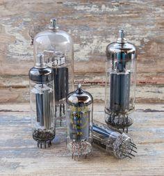 Vintage TESLA Vacuum Tubes set of 5/ Steampunk by RusticHomeDeco