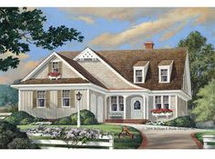 Cottage House Plan with 1957 Square Feet and 3 Bedrooms(s) from Dream Home Source | House Plan Code DHSW68004