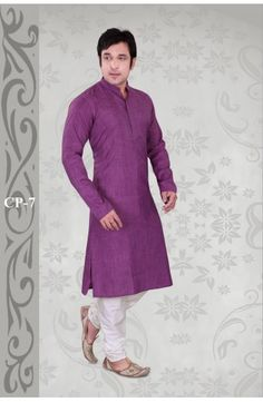 Purple Cotton Blend Readymade Kurta With Churidar. D.No7  Now, place your Order now : Email:- raksha@silk-india.com