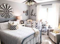 Nursery Guest Room Combo styled by Jennifer Boyd Designs. Perfect for a small space and a great way to not lose your spare room when having a new baby.