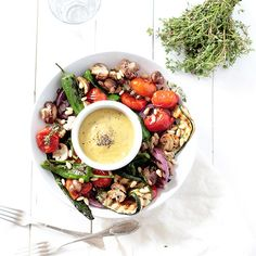An easy, 20-minute grilled summer vegetables recipe with an apple mustard dipping sauce. Healthy, delicious and so easy to make!