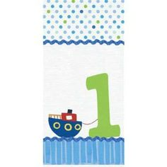 Baby Boy's First Birthday 54 in x 102in Plastic Tablecover