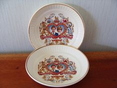 Porcelain Bowls Royalty Memorabilia Prince Charles and Princess Diana