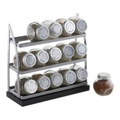 15-Jar Tiered Spice Rack. Perfect way to keep your spices organized and staying fresh. #foodie #registry #gifts