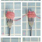 Técnica del tenedor para confeccionar pompones de lana