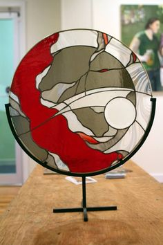 zn stained glass has lovely pieces #StainedGlassAbstract
