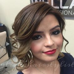 cute curly updo for women with fat faces