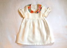 Pure Linen & Liberty Peter Pan Collar by HarrietsHaberdashery