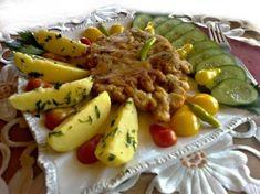 Vargányabundás sertéskaraj Grains, Rice, Meat, Chicken, Recipes, Food, Recipies, Essen, Meals