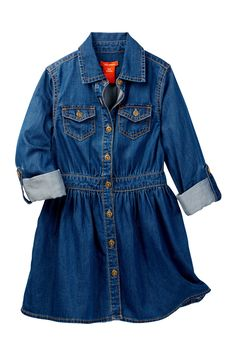 Denim Dress (Little Girls & Big Girls) by Joe Fresh on @nordstrom_rack