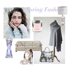 Spring Fashion by mdrozd on Polyvore featuring moda, Lipsy, Dolce&Gabbana, Lancôme, Pier 1 Imports and True Grace