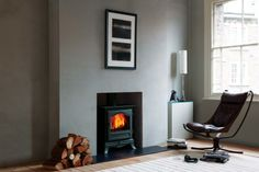 Robertson Stove and Fireplace Centre, Aberdeen - Chesney's, Belgravia 8 Series Fireplace Logs, Living Room With Fireplace, Living Room Decor, Fireplaces, Fireplace Ideas, Living Rooms, Modern Wood Burning Stoves, Small Wood Burning Stove, Room Color Schemes