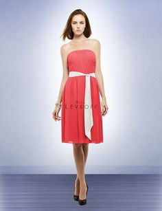 Like the idea of a different colored belt. Don't know what this will look like on MY bridesmaids though