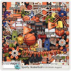 Digital Scrapbook Kit - Sporty: Basketball| Kristin Aagard
