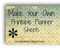 {Tutorial} How To Make Your Own Printables