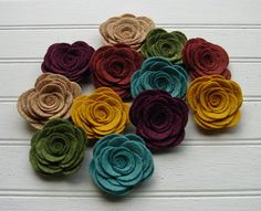 Hey, I found this really awesome Etsy listing at http://www.etsy.com/listing/119077937/wool-felt-flowers-large-posies-in-the